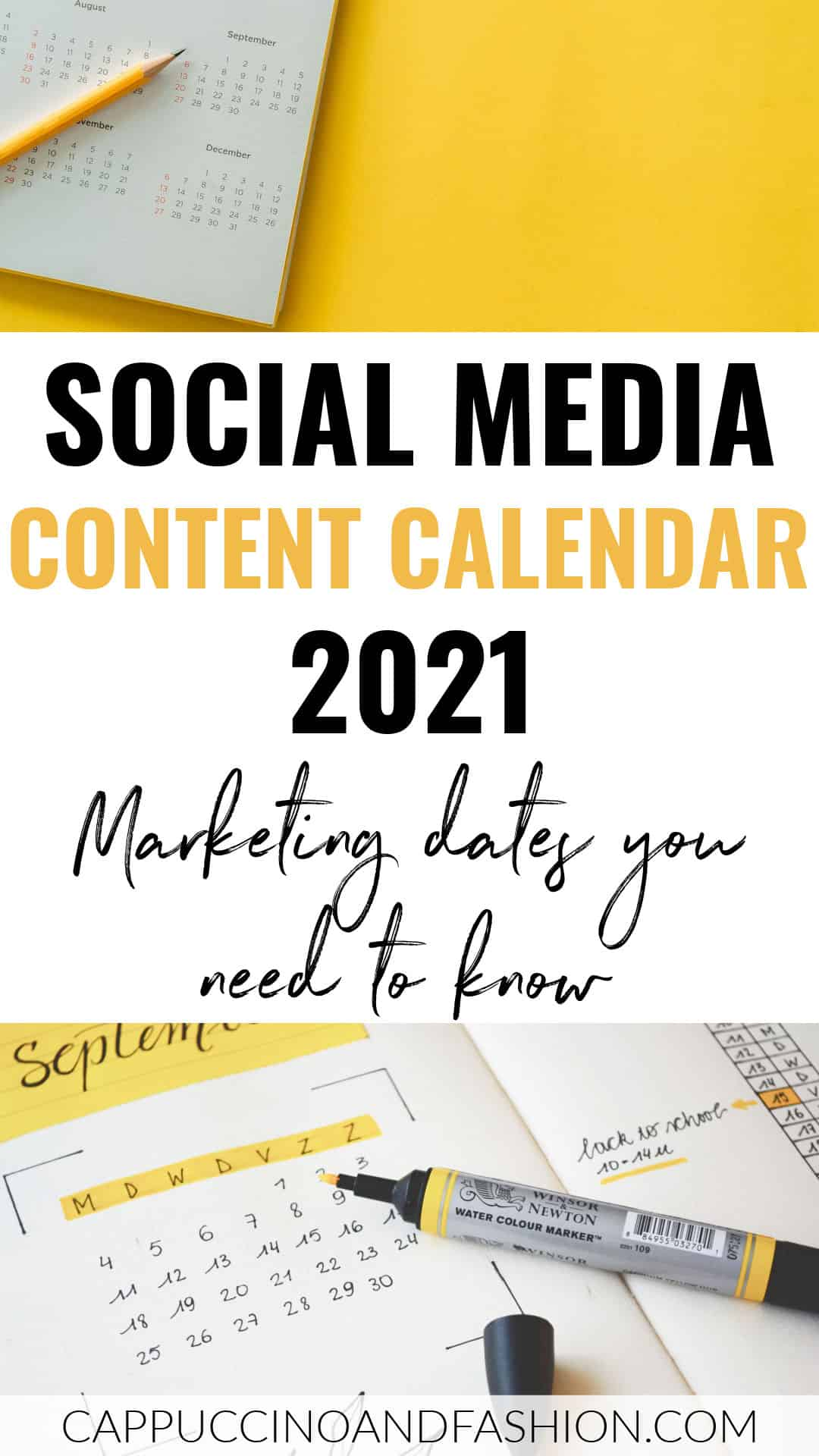 Social Media Calendar 2021 Marketing Dates UK