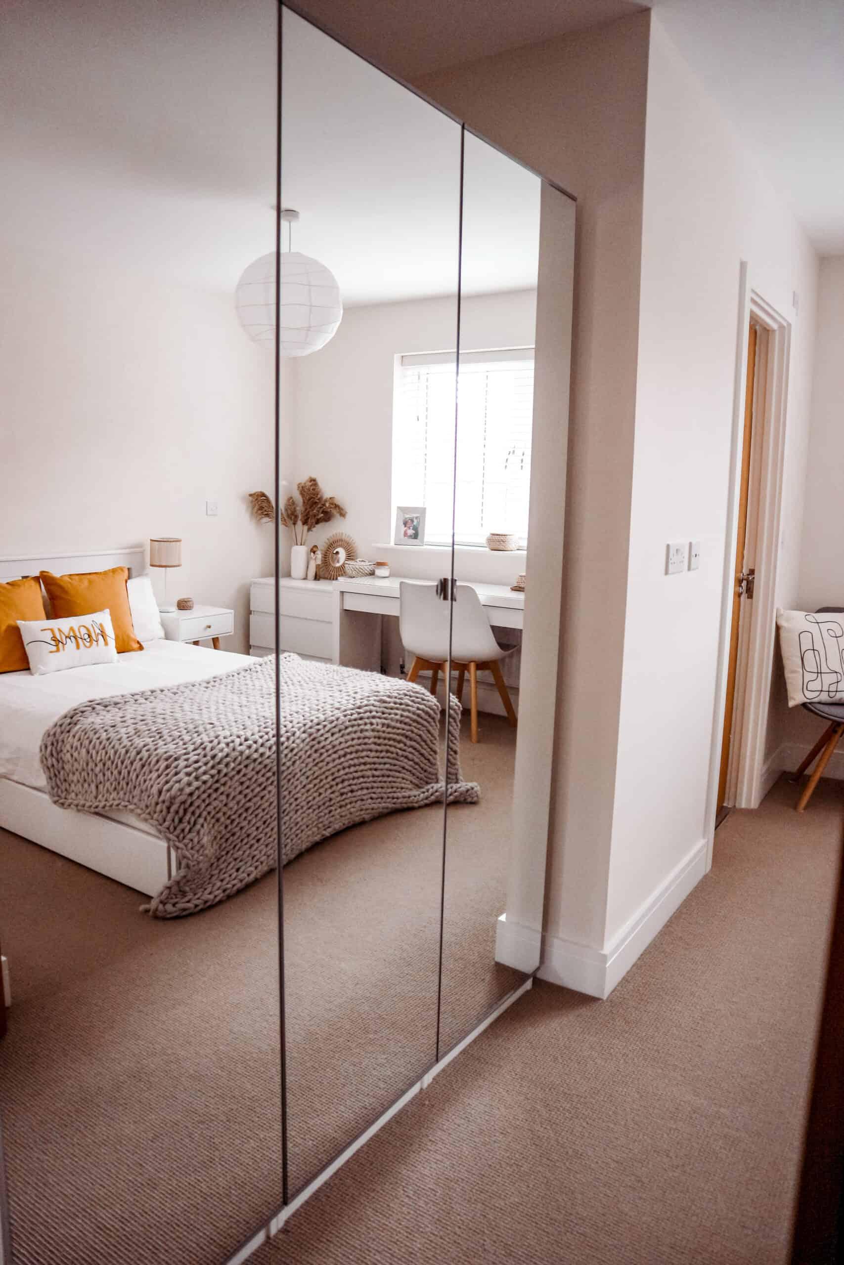 IKEA Pax mirrored wardrobe bedroom decor ideas