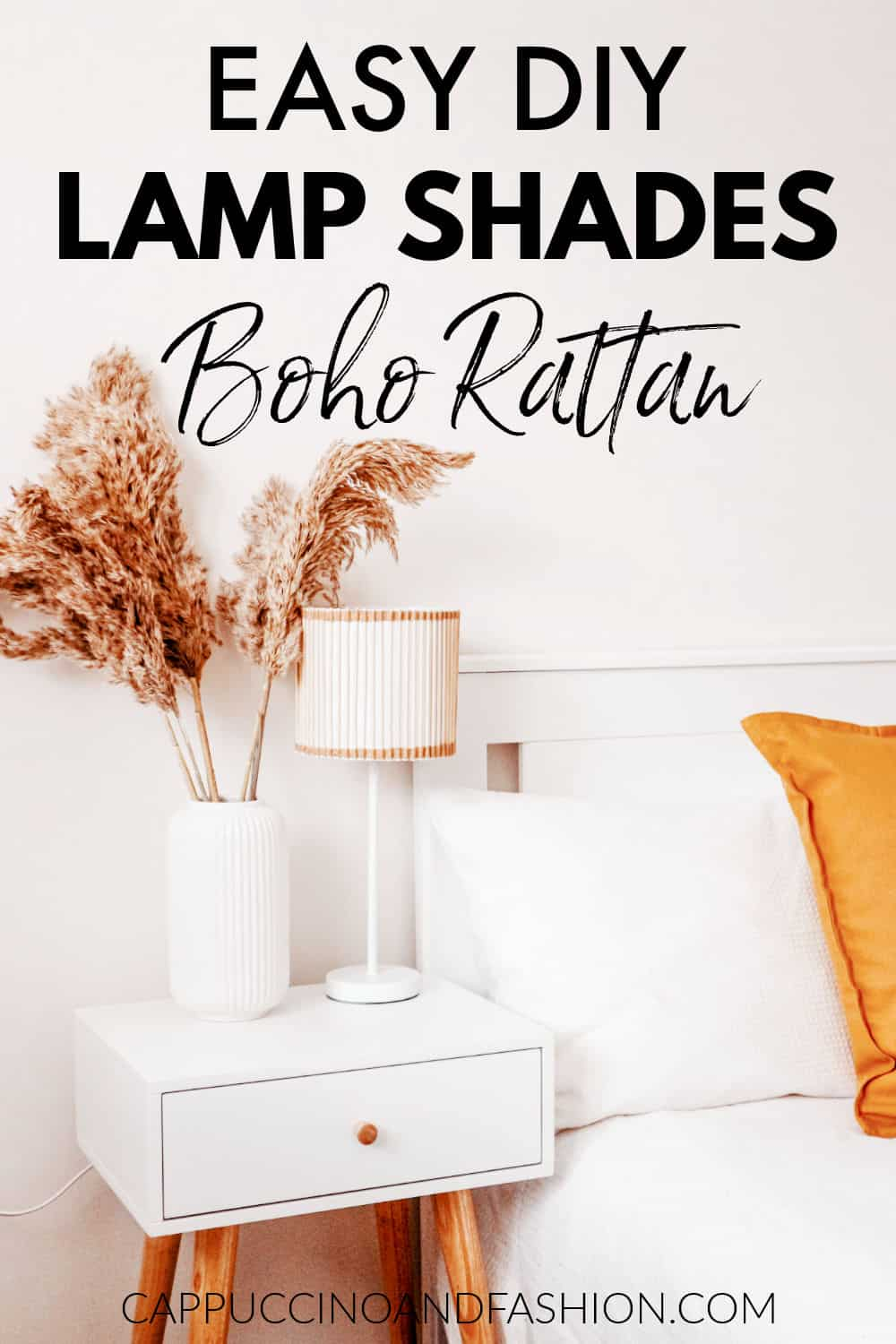 Easy DIY Lamp Shades Boho Rattan Scandi