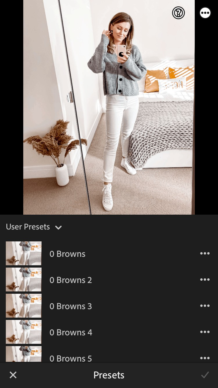 How to use Lightroom presets for a bright Instagram feed