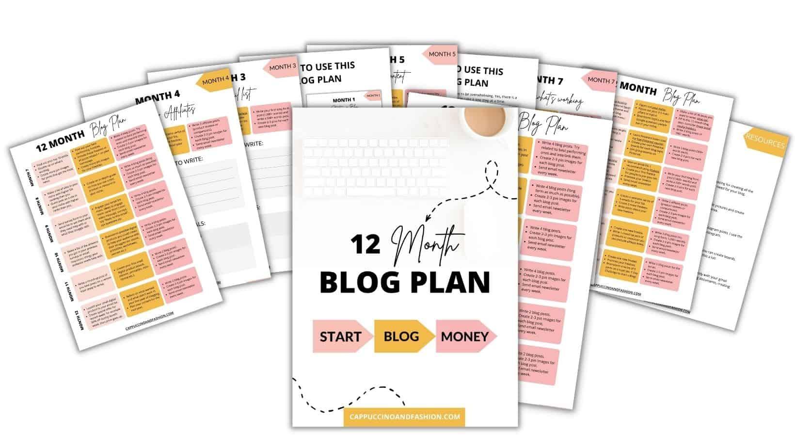 12 Month Blog Plan