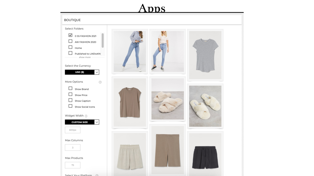 How to Use Boutique Widget on Rewardstyle