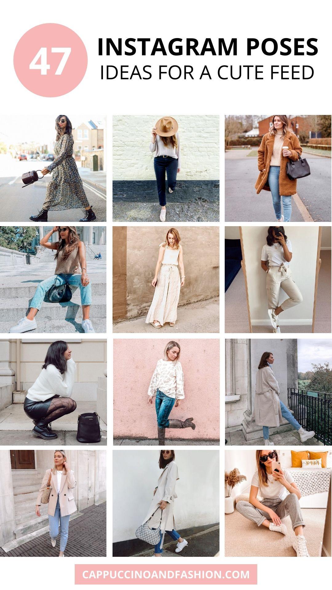 47 Instagram Poses Ideas for Cute Photos