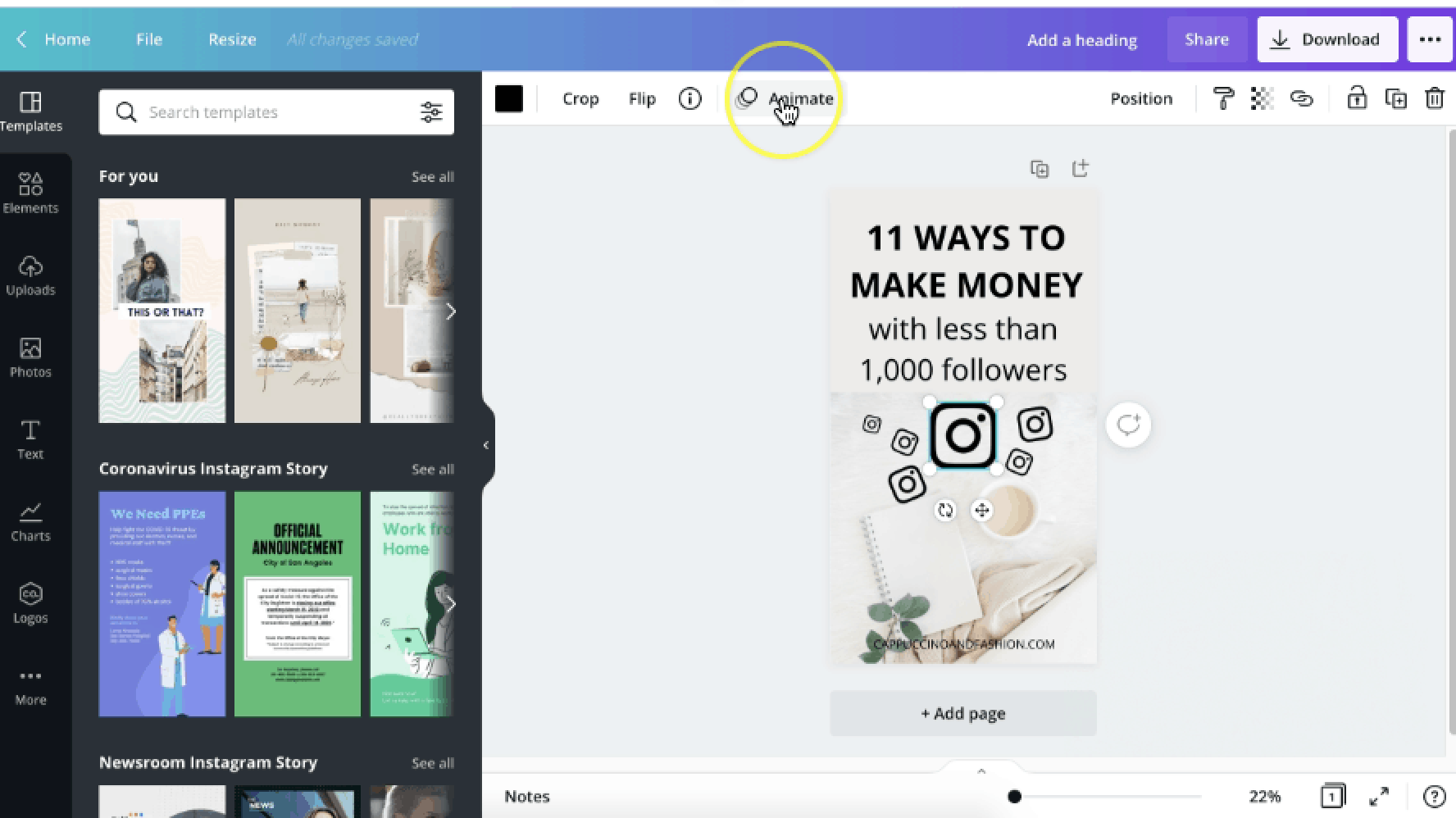 How to Create Video Pins for Pinterest in Canva Easily